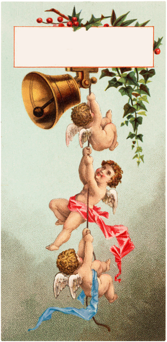 Cherubs and Bells Tag Download