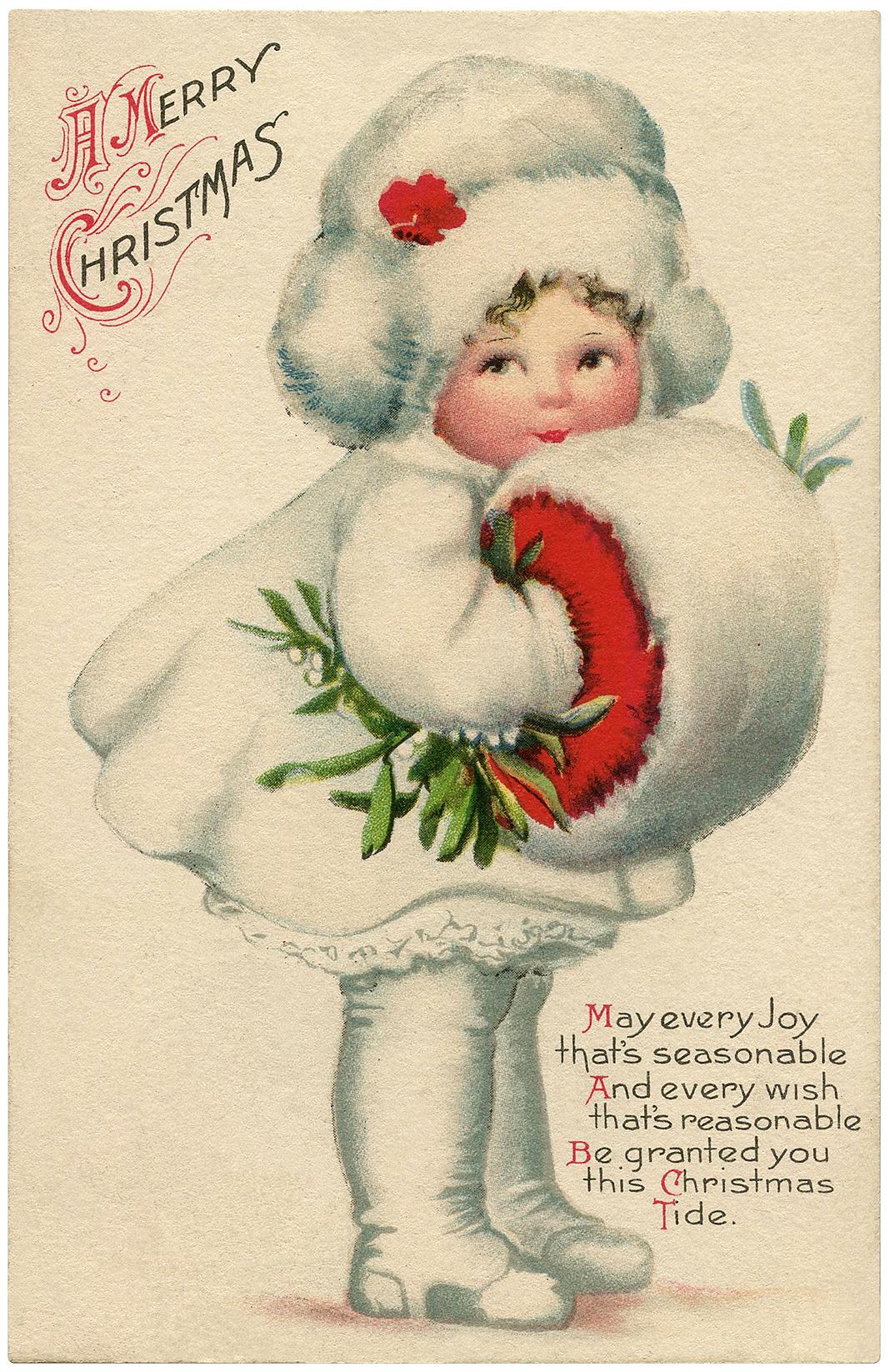 Christmas Snow Girl Image