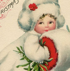 Darling Christmas Snow Girl Image!
