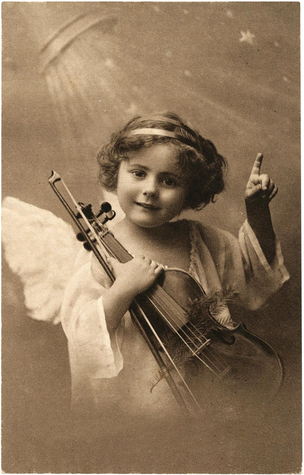 Vintage Angel with Violin Photo