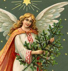 Vintage Calendar Angel Image!
