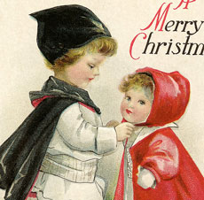 Vintage Christmas Children Postcard!