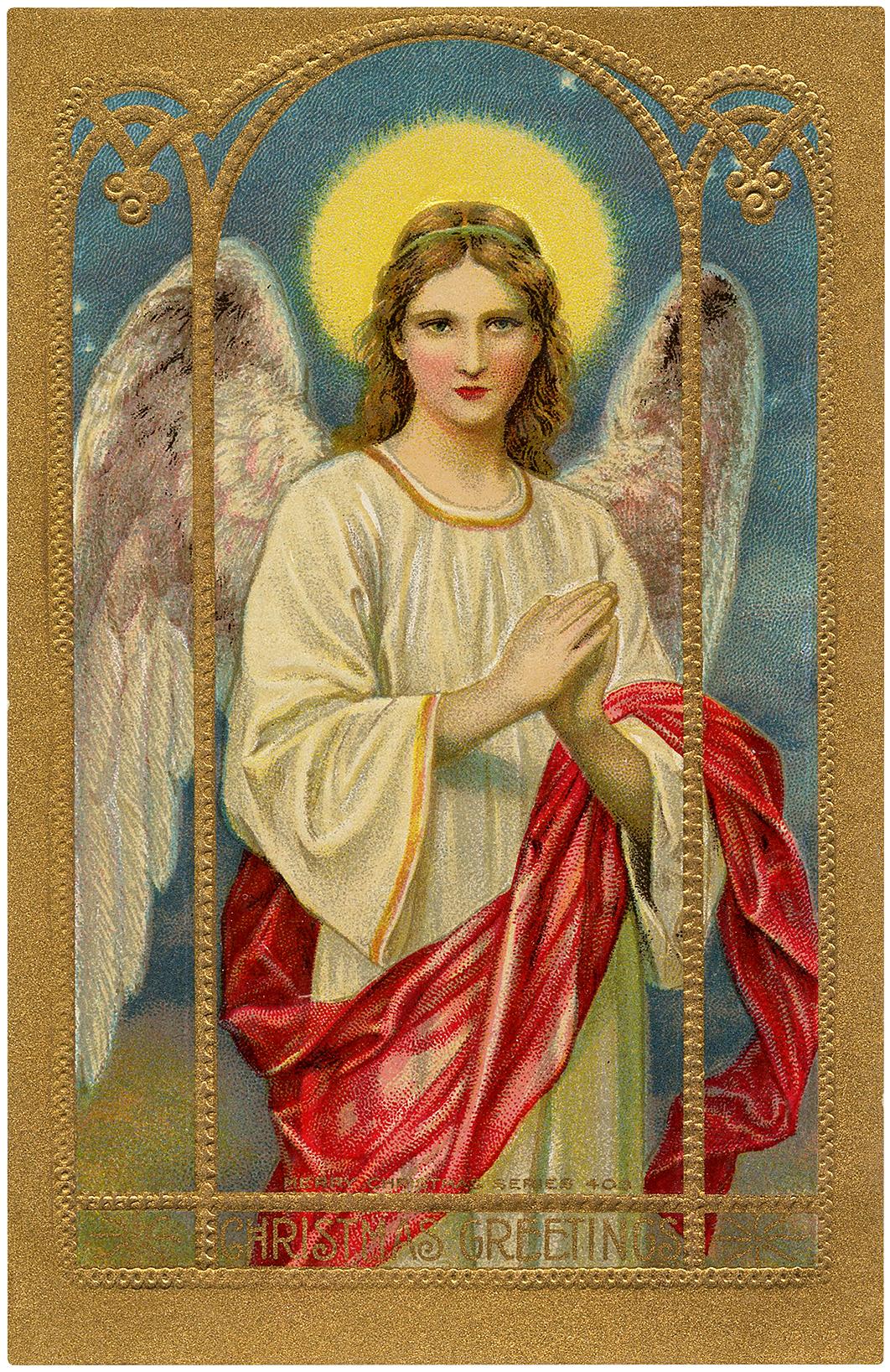 Vintage Holy Angel Image