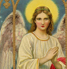 Beautiful Vintage Holy Angel Image!