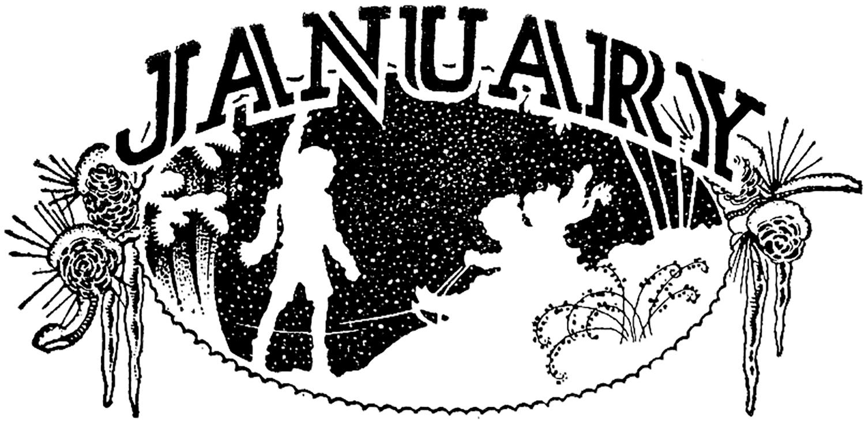 Vintage January Image