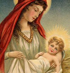 Gorgeous Vintage Mary with Jesus Download!