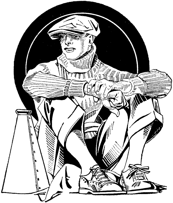 Vintage Newsboy Image