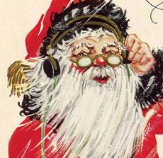Vintage Santa List Image!