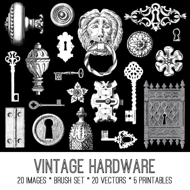 Vintage Hardware Image Kit