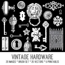 Vintage Hardware Image Kit! Graphics Fairy Premium Membership