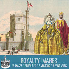 Vintage Royalty Images Kit! – Graphics Fairy Premium Membership