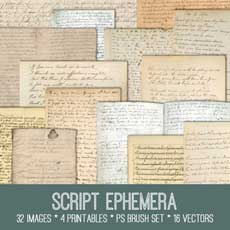 Script Ephemera Kit! – Graphics Fairy Premium Membership