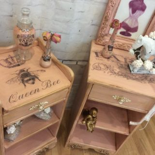 Solid Maple Vintage Pink Night Tables – Reader Feature