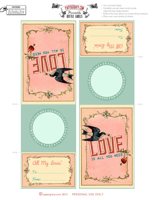 Valentine Printable Labels & Tags