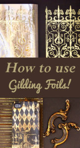 How to use Gilding Foils