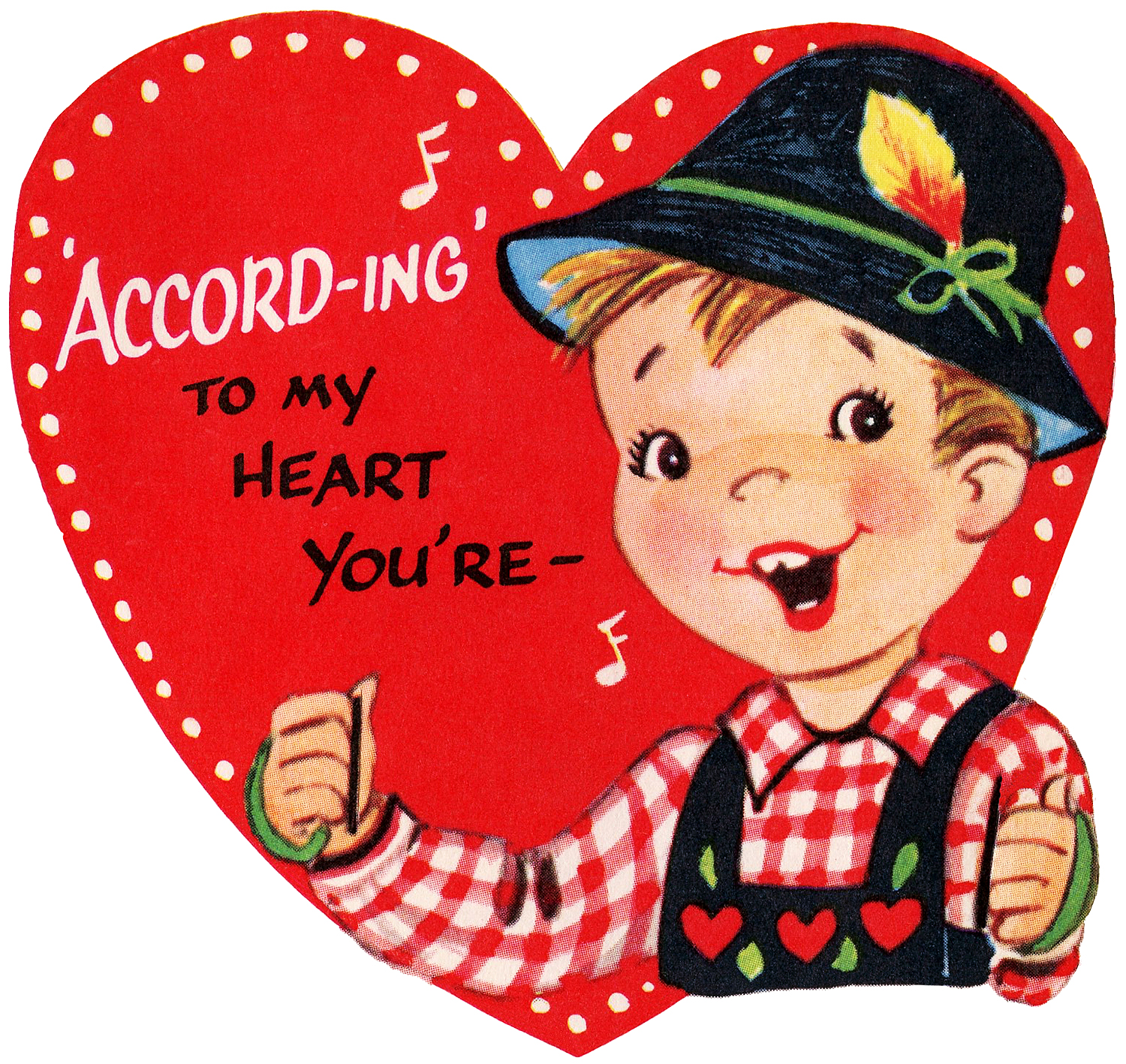 Retro Valentine Boy Swedish Hat