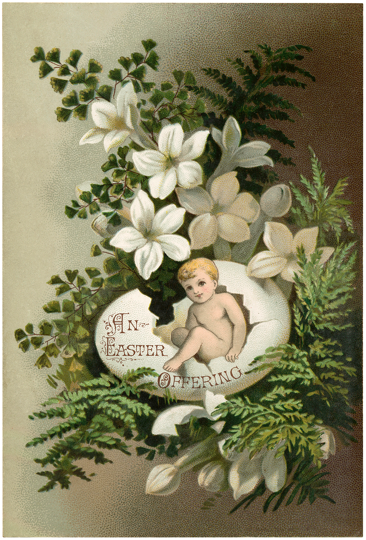 Vintage Easter Egg Baby Image