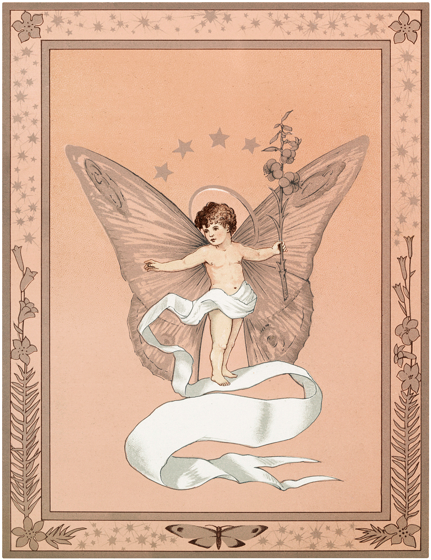 Vintage Butterfly Fairy Image