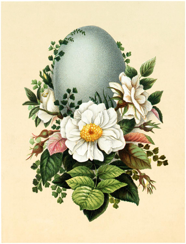 Vintage Floral Easter Display Image