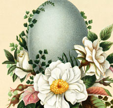 Beautiful Vintage Floral Easter Display Image!
