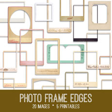 Vintage Photo Frames Kit! Graphics Fairy Premium Membership