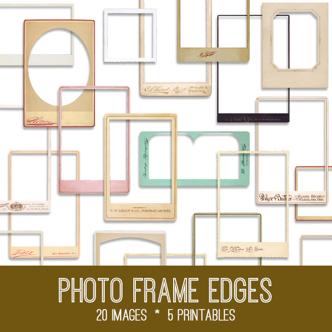 Vintage Photo Frames Kit