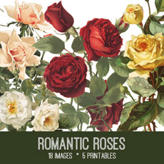 Romantic Roses Image Kit – Graphics Fairy Premium Membership