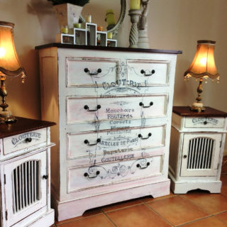 Shabby Chic Dresser and Matching Bedside Table set – Reader Feature