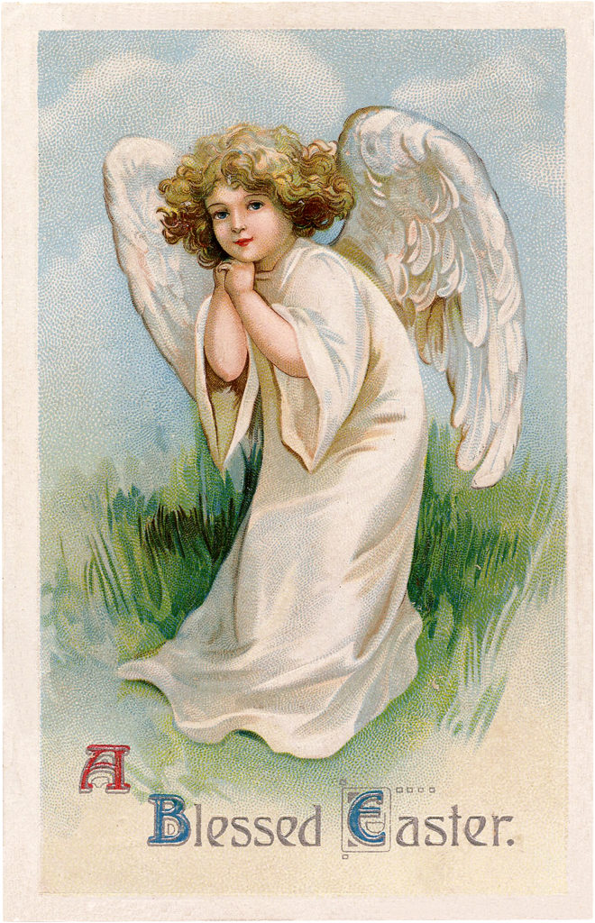 Vintage Easter Angel Girl