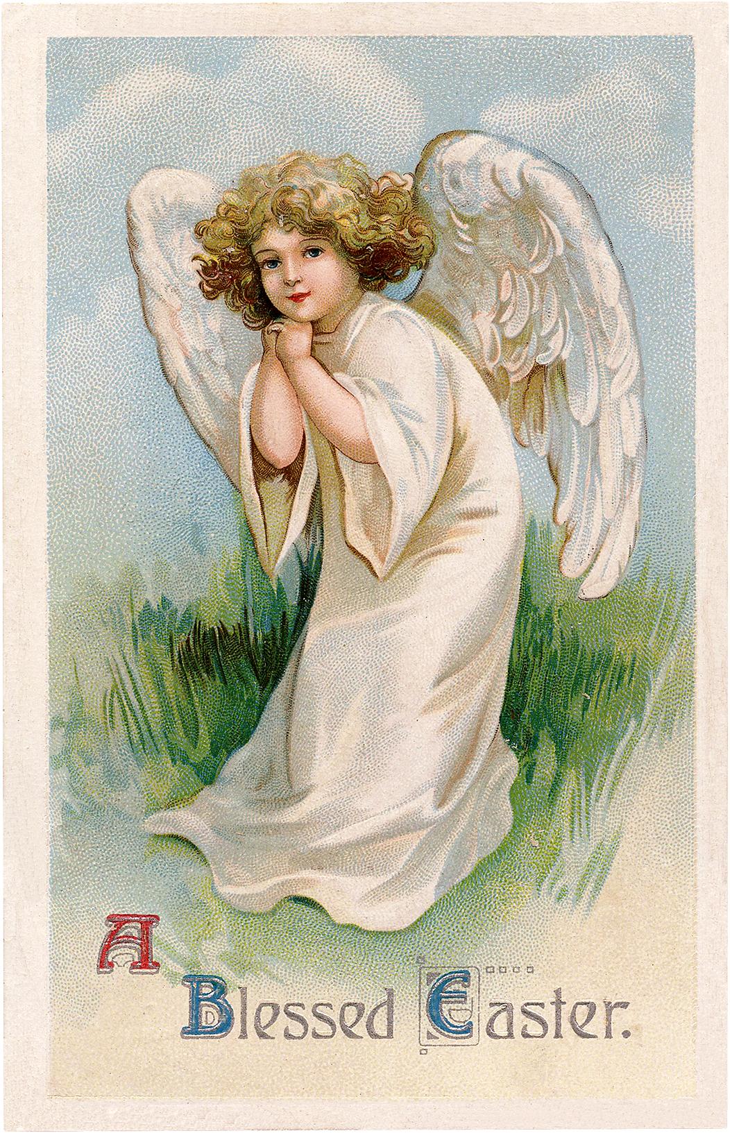 Vintage Easter Angel Girl