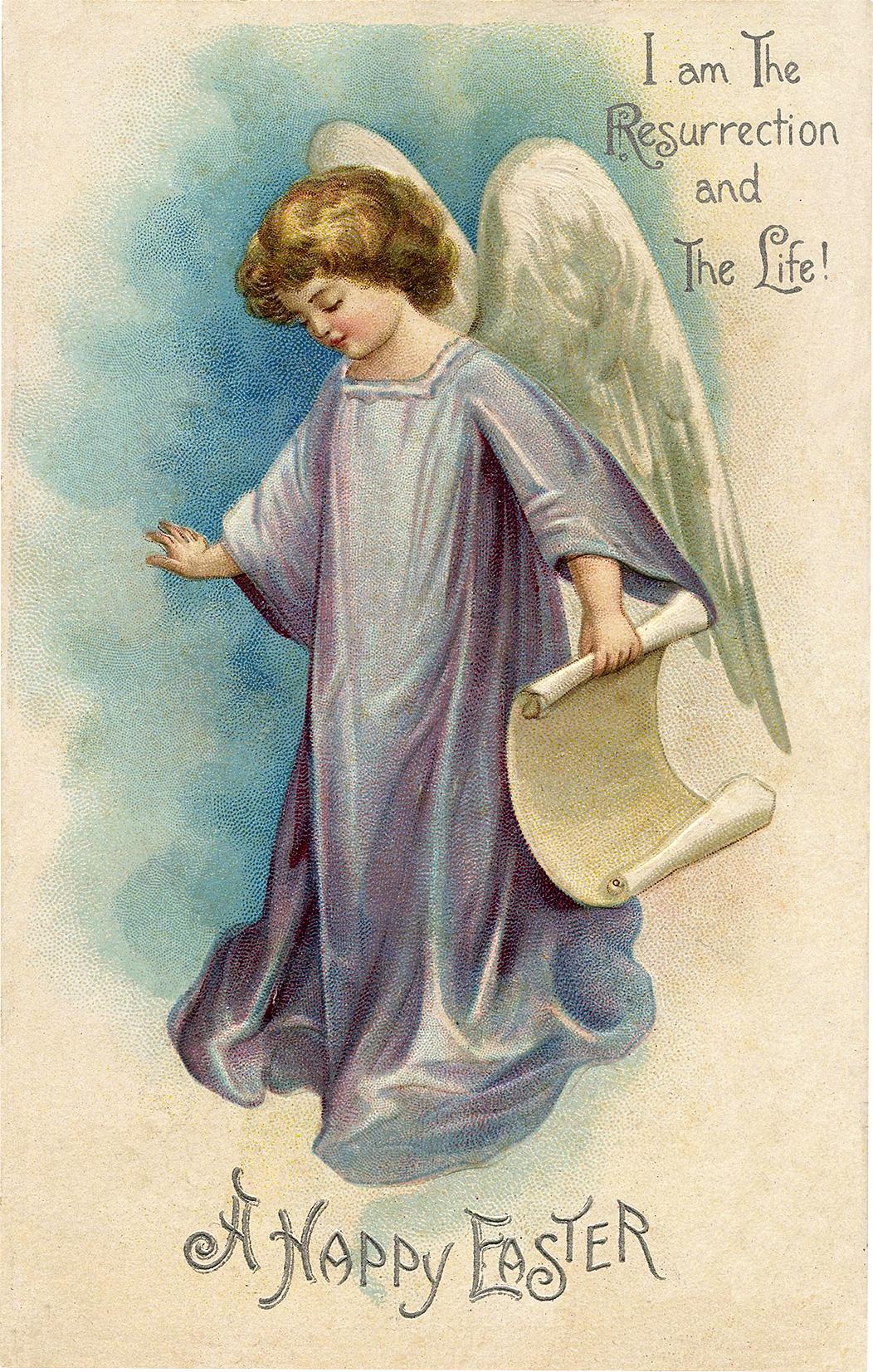 Vintage Easter Angel Picture