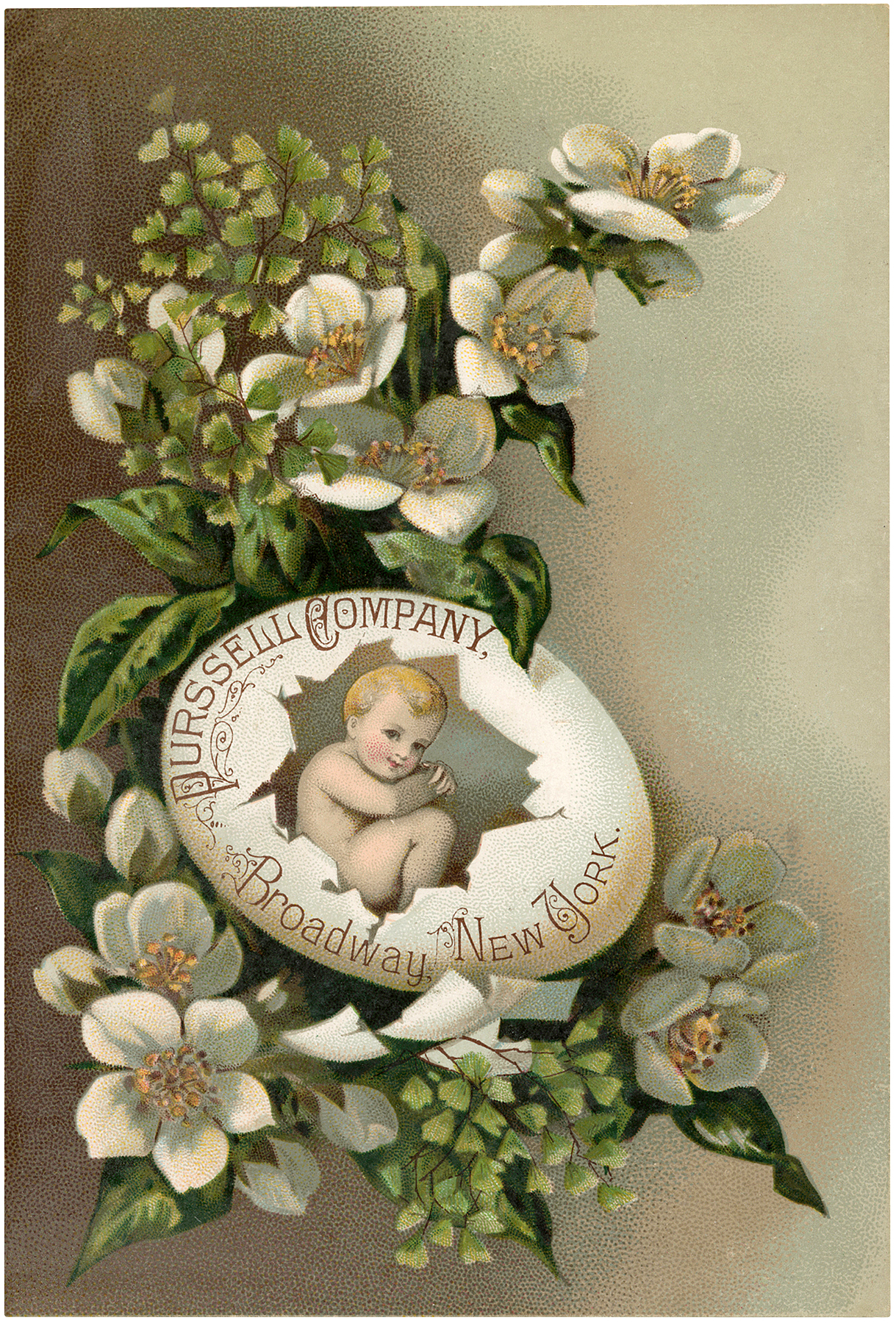 Vintage Easter Egg Baby Picture
