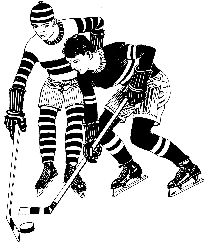 Vintage Hockey Image