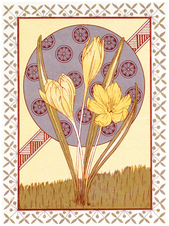 Vintage Nouveau Crocus Image