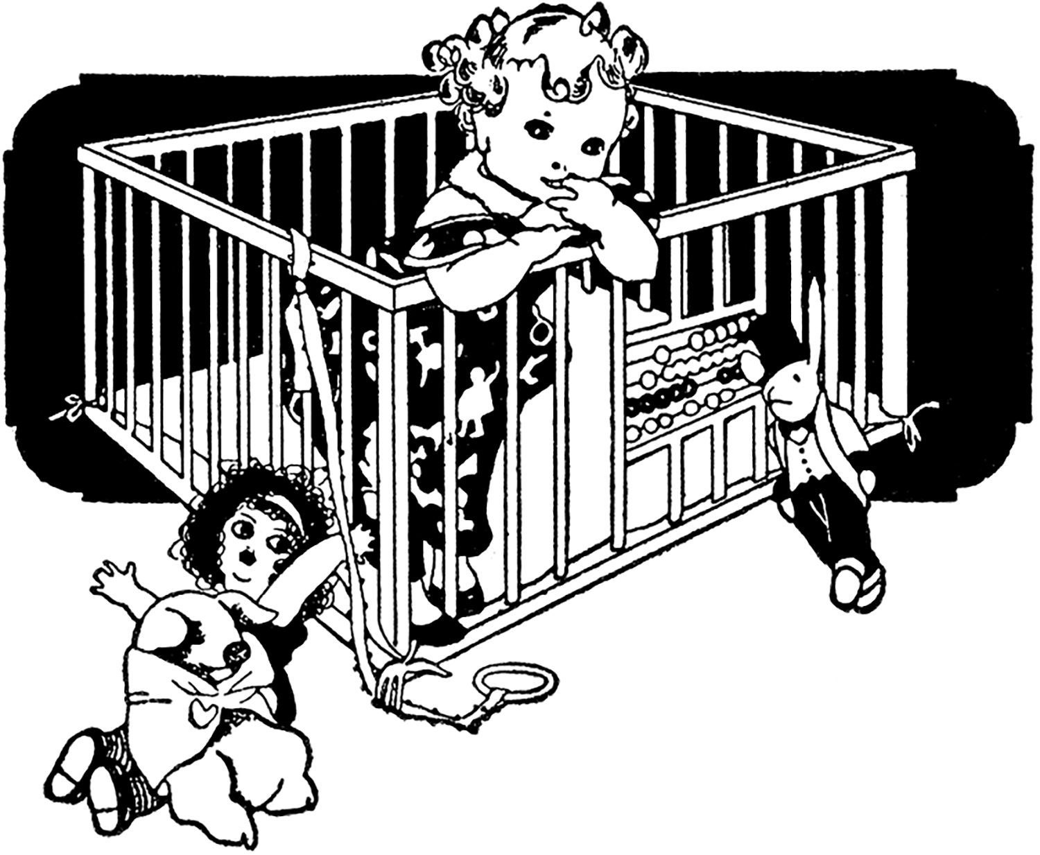 Vintage Toddler Playpen Image