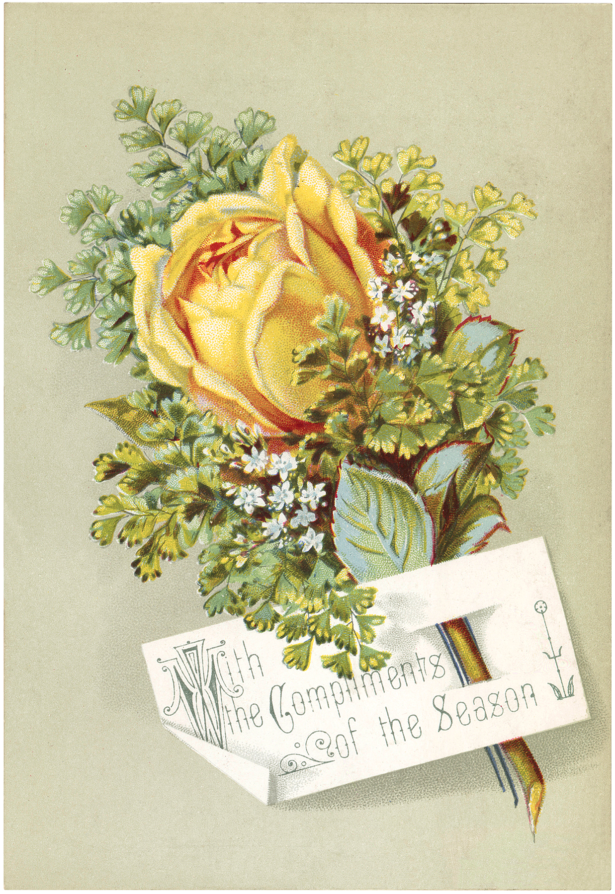Vintage Yellow Rose Image