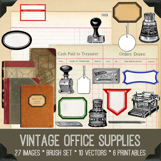 Vintage Office Supply Kit