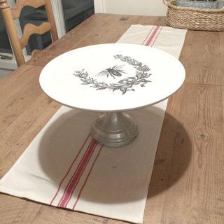 Repurposed Pizza Pedestal Dish – Reader Feature