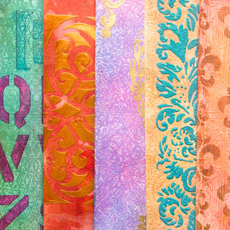 Embossed Waxed Paper Resist Technique!
