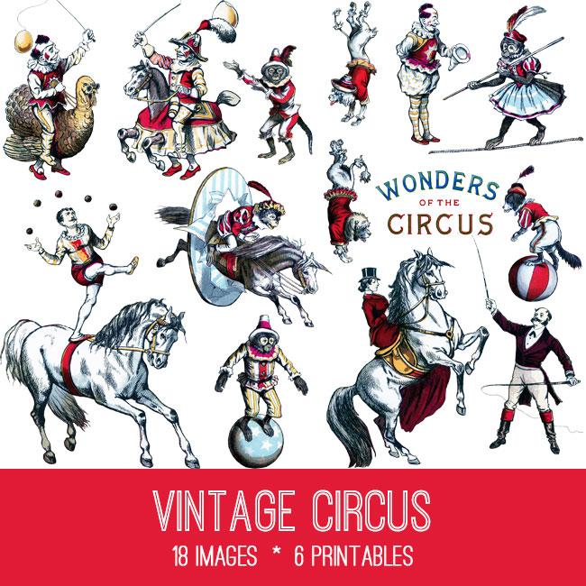Vintage Circus Image Kit