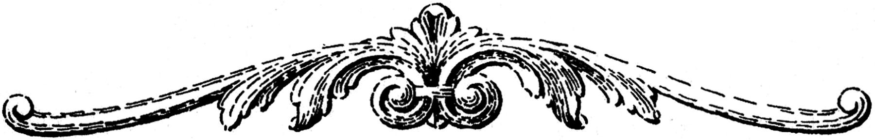 Black and White Molding Clip Art
