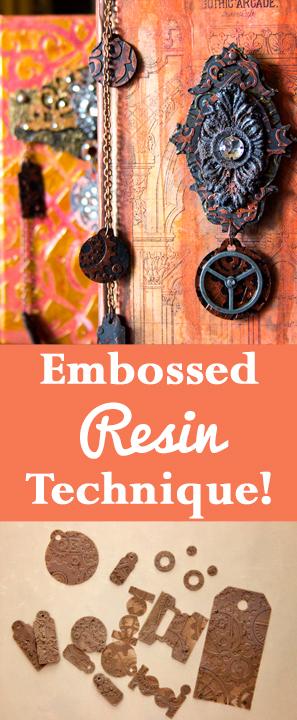Embossed Resin Technique