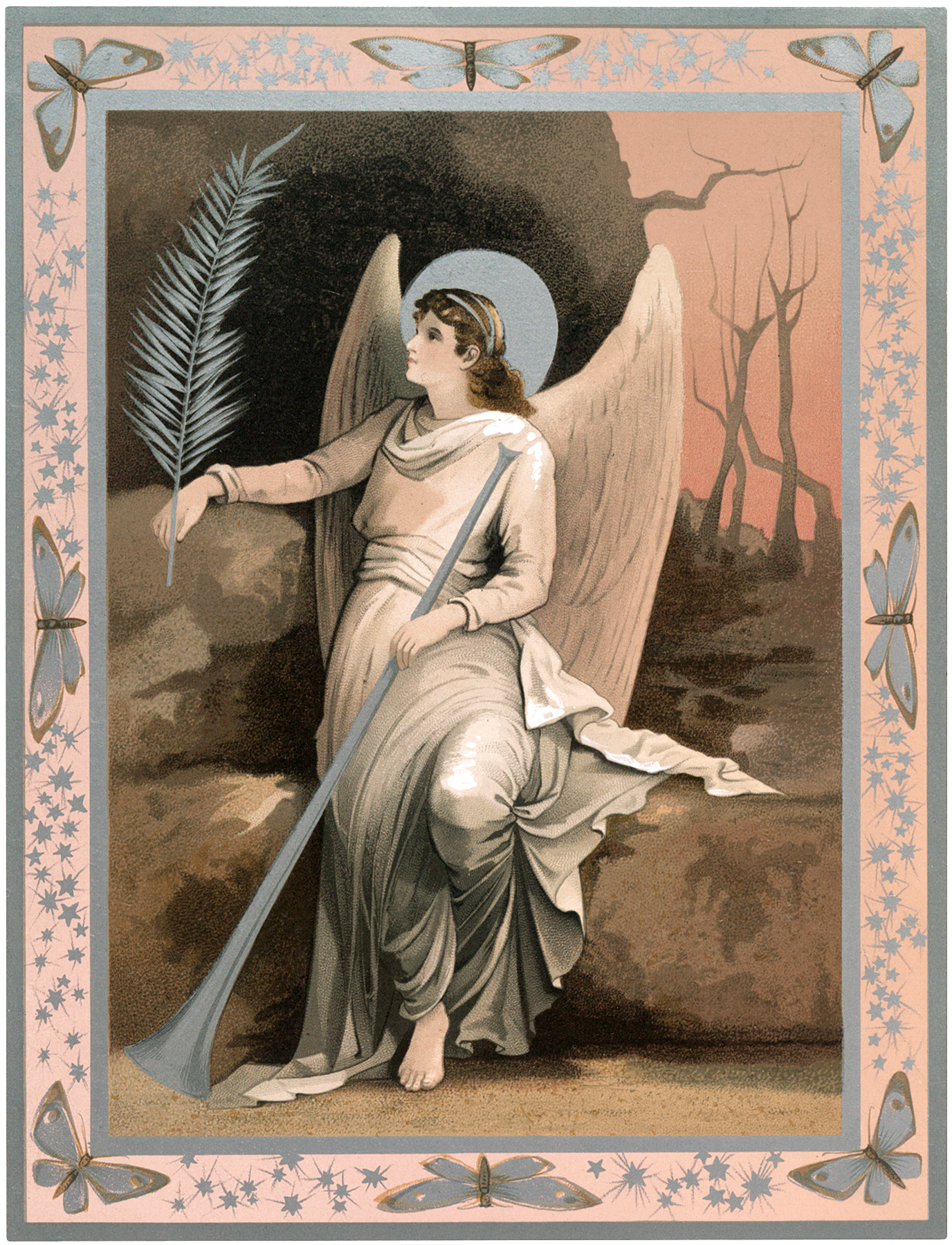 Pastel Easter Angel Image