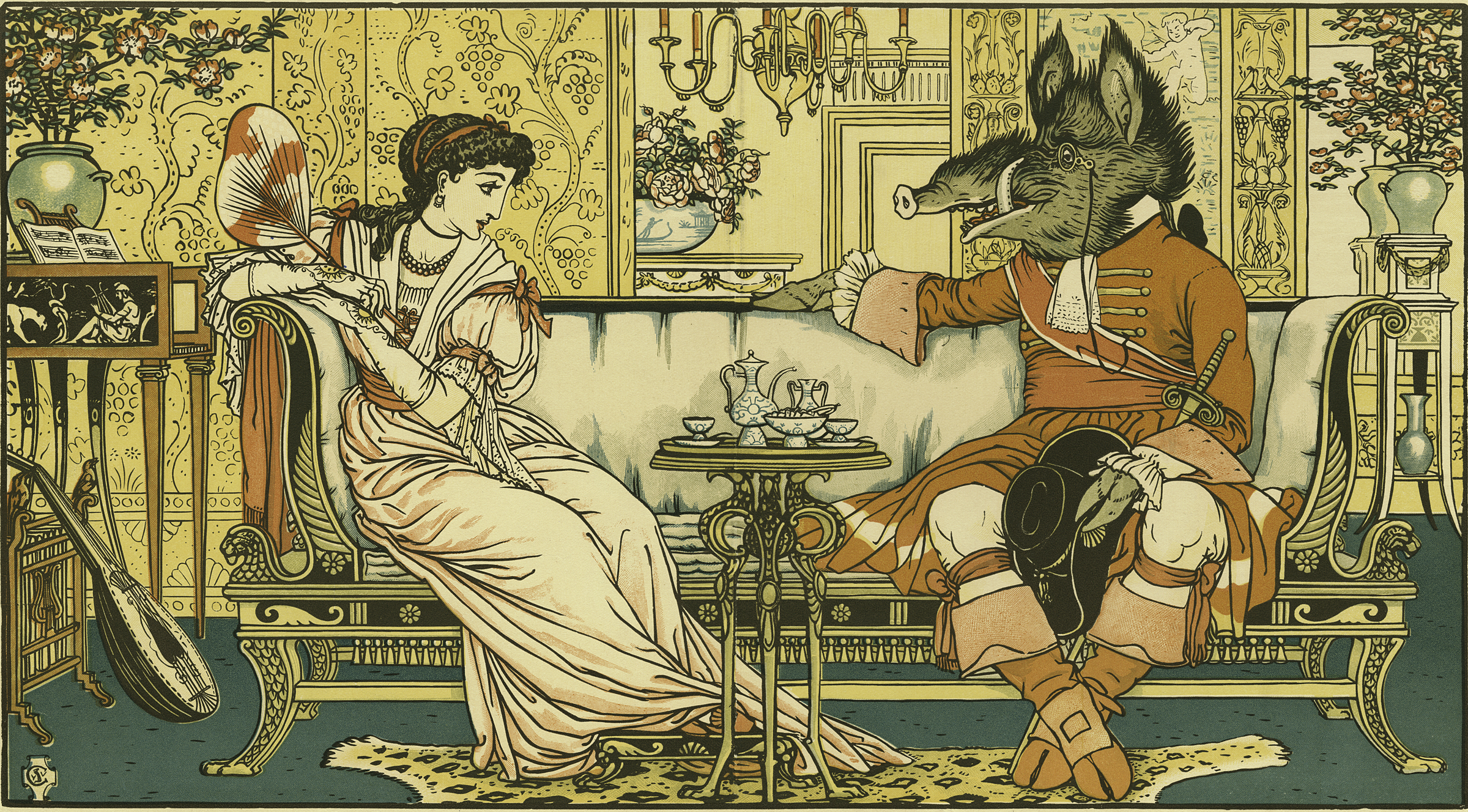 Vintage Beauty and the Beast Picture
