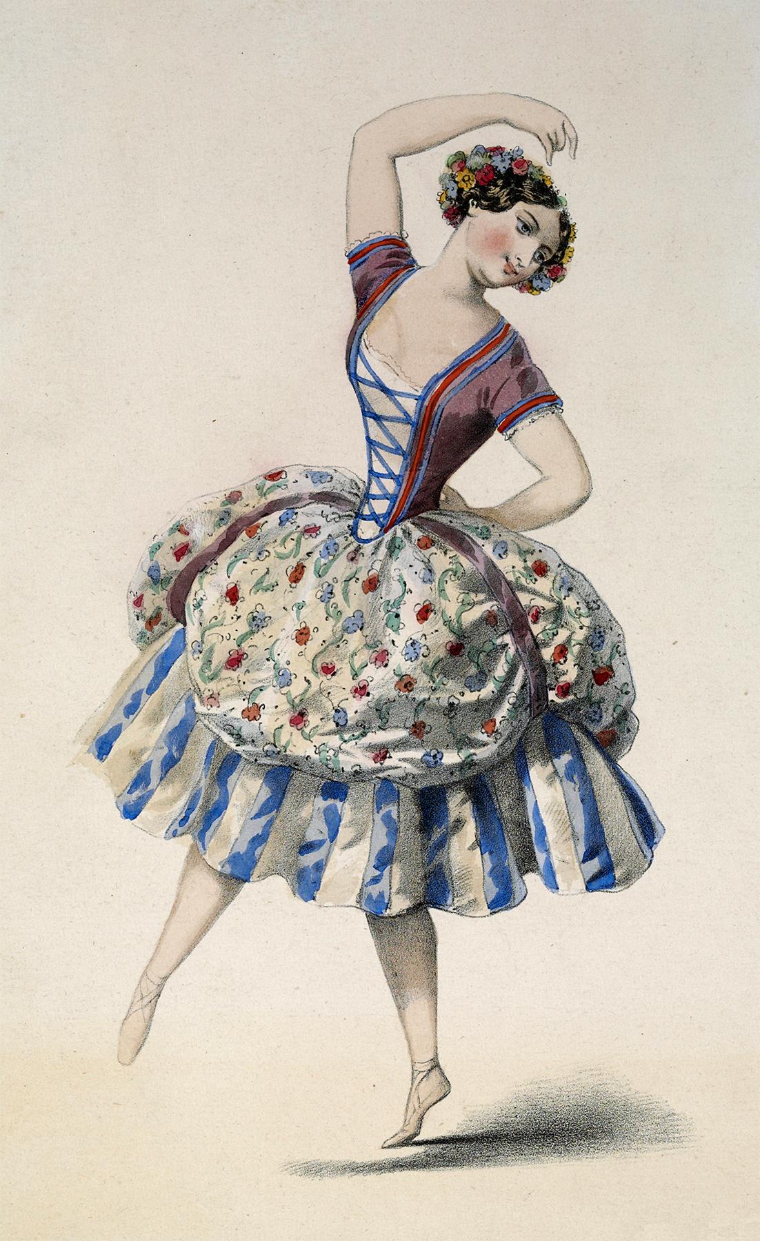 Vintage Dancer Girl Image