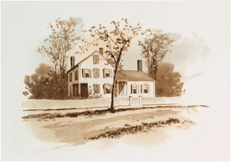 Vintage Sepia House Image