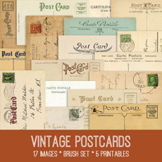 Vintage Postcard Image Kit – Graphics Fairy Premium!