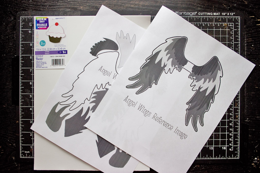 Diy angel wings easy and fun craft project the for Angel craft transfer tape