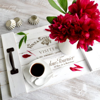 Build a French Farmhouse Tray with Scrap Wood & Free Printable!