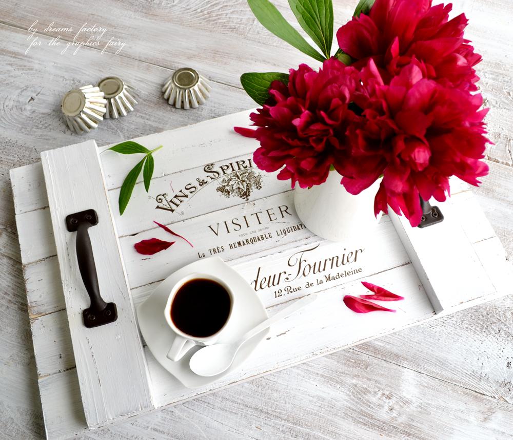 DIY French Farmhouse Tray & free printable